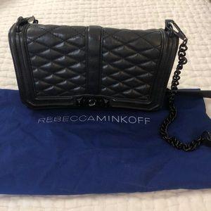 Rebecca Minkoff Love Black Chain Bag